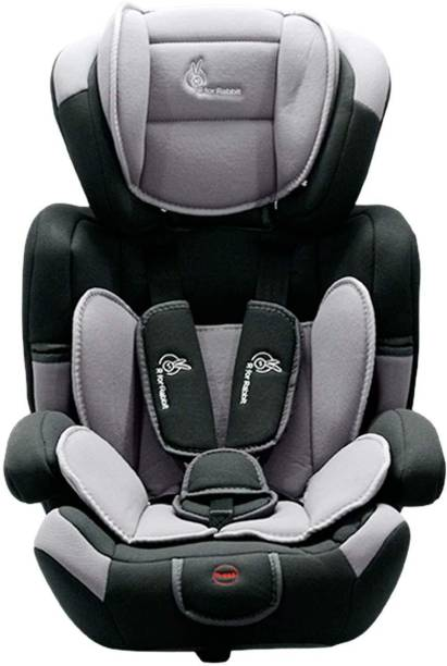 R for Rabbit Jumping Jack Grand Convertible Baby Car Seat of 0 to 12 Years Age Innovative ECE R44/04 Safety Certified Growing Car Seat for Kids (Black Grey) Baby Car Seat