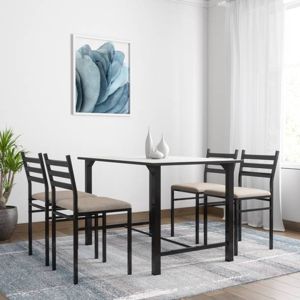 FurnitureKraft Metal 4 Seater Dining Set