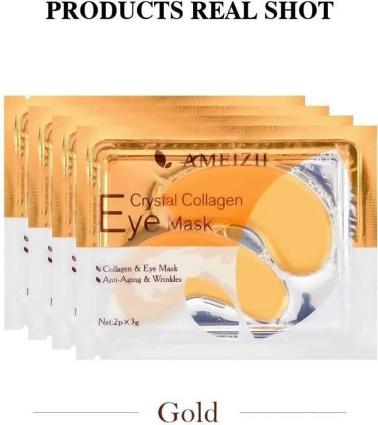 Surebiz 5 Pair 24K Gold Crystal Collagen Eye Mask - Patches For Eye Care - Removes Dark Circles - Anti Aging Wrinkle Skin Care GOLD (5 gms)