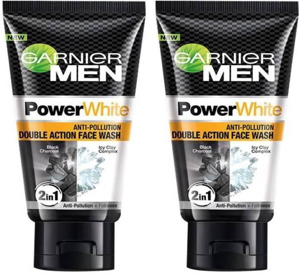 GARNIER Power White Anti-Pollution Double Action Face wash 2X100g Face Wash