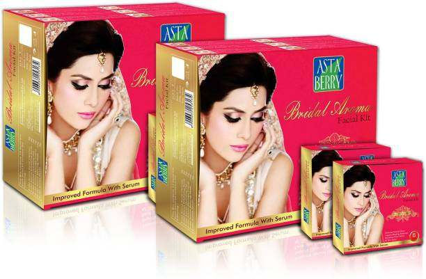 ASTABERRY Bridal Aroma Facial Kit 12 Pouch Set (6 Steps) 432g + Bridal Aroma Facial Kit 12 Pouch Set (6 Steps) 432g