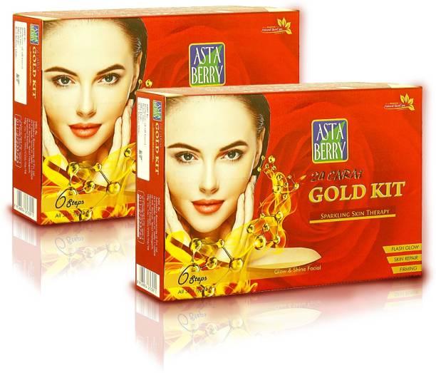 ASTABERRY Gold Facial Kit (6 Steps) 570 ml + Gold Facial Kit (6 Steps) 570 ml
