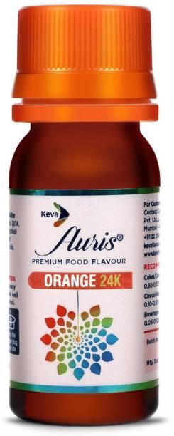 Auris Orange 24K Food Flavour Essence for Baking Cake, Chocolates, Indian Sweets Orange Liquid Food Essence