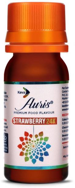 Auris Strawberry 24K Food Flavour Essence for Baking Cake, Chocolates, Indian Sweets Strawberry Liquid Food Essence