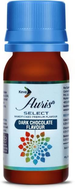 Auris Select Dark Chocolate Flavour - Food Flavour Essence for Baking Cakes, Cookies, Chocolates, Ice Creams, Desserts (30 ml) Chocolate Liquid Food Essence