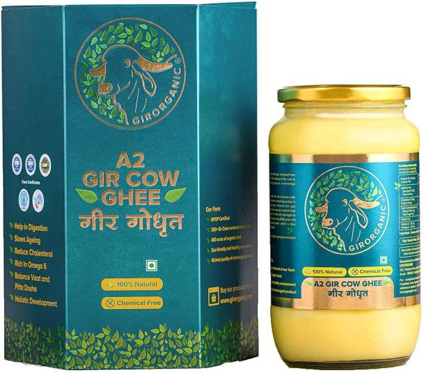 GIRORGANIC GIR COW GHEE 1 LTR Ghee 910 g Glass Bottle