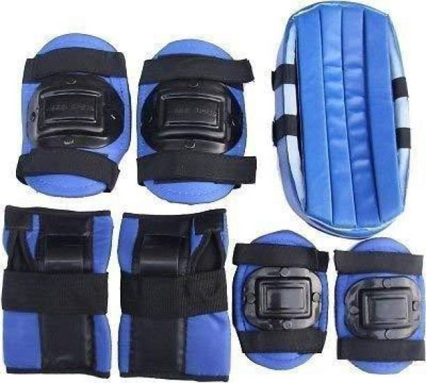FIT & FITNESS Kids Skating Safety Gear Skating Guard Combo (Blue) Skating Guard Combo