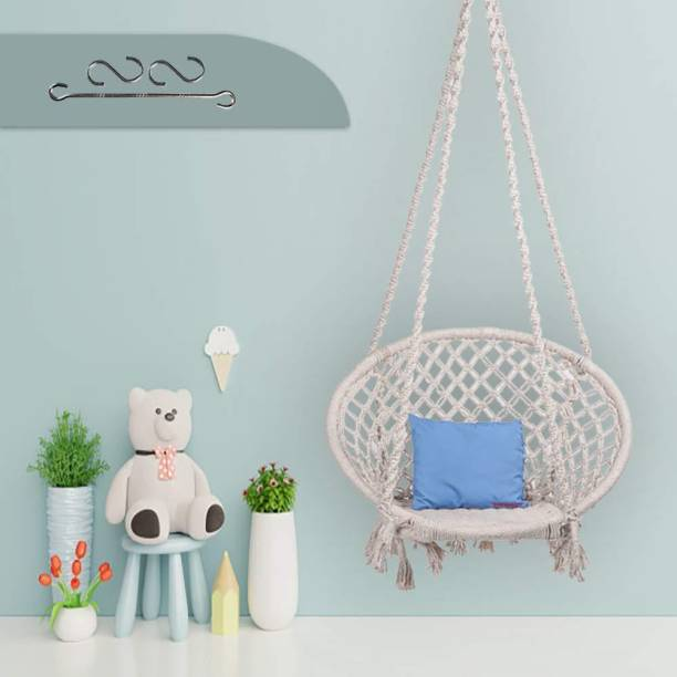 Swingzy Swing for Adults and Kids Cotton, Wooden Large Swing