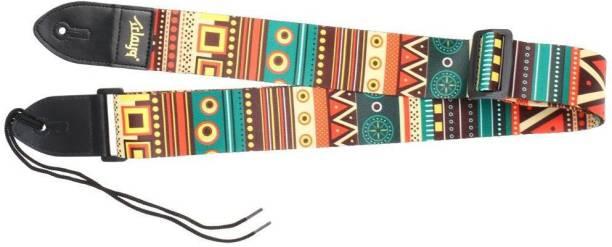 Bolt Adjustable Guitar Strap with PU Leather Ends Cotton Strap (Multicolor) Cotton Strap