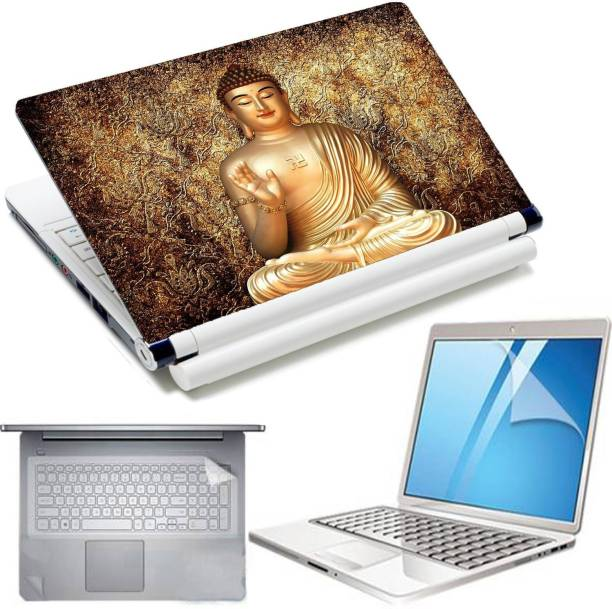D.V TECH 4IN1Golden Godess Bhuddha combo set of screen guard keyguard and touchpad for 15.6inch laptop Combo Set