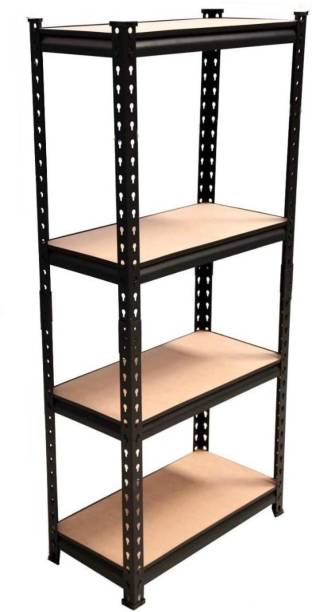 "Ranisati Adjustable 4-Shelf Shelving Unit Storage Rack Utility Rack Garage Shelves Display Rack Steel Boltless Rivet Rack [(4 -Section) 4'6""inch [H] X 2' inch[L] X 1inch [D]] Luggage Rack"