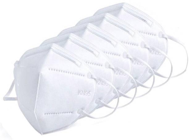 Altek N95 FACE MASK FOR PROTECTION (WHITE) PACK OF 5 ASMHBLUE5 Reusable, Washable