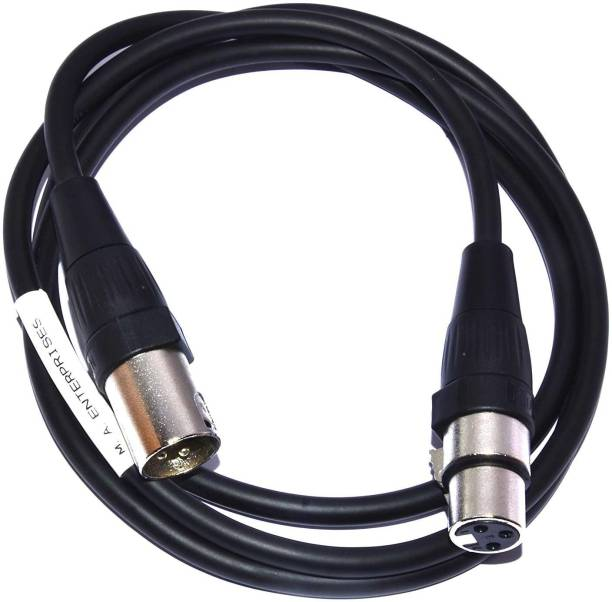 SOUVENIR 3 Pin XLR Male to XLR Female Cable 3 Meter XLR Cable Microphone Extension Balanced Audio Cable for Phantom Power, Amplifier Mixer, Condenser Mic, XLR Cable for Microphone XLR Cable for Audio Jack cable (Black) Cable