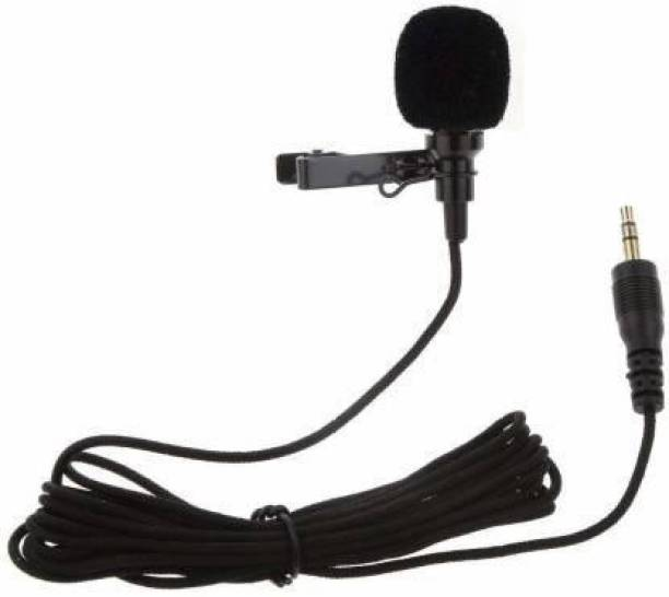 AJRO DEAL Clip on Collar Tie Pocket For Voice Recording, Youtube Video, Conferencing Collar Mic Connects with Mobile, Pc, Laptop, Dslr Camera Microphone Microphone hold (Black) Microphone