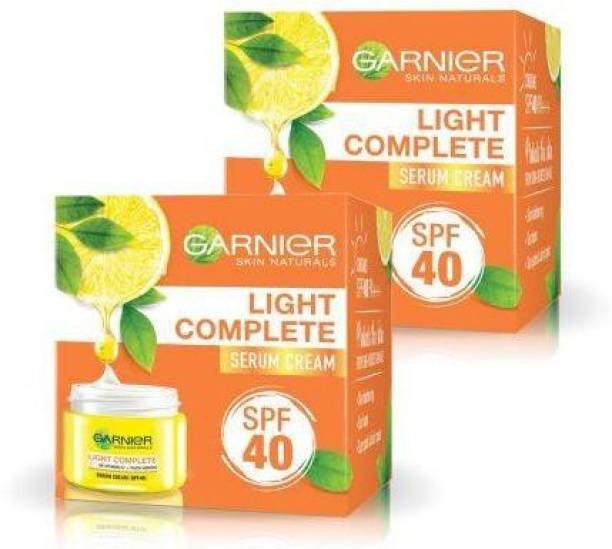 GARNIER Light Complete Serum Cream SPF 40 2X45g