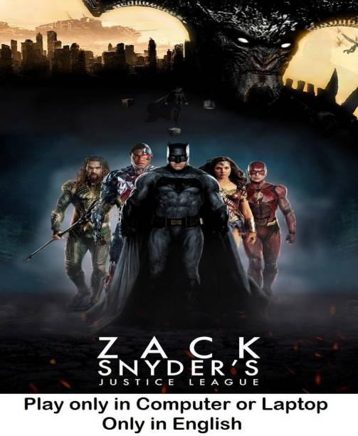 Zack Snyder's Justice League (2021) in English it's DURN DATA DVD play only in computer or laptop it's not original without poster HD print quality