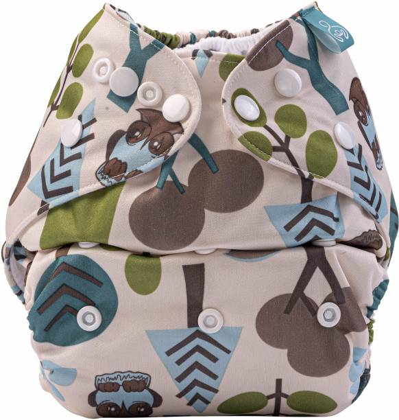 bumberry Adjustable Tree Print Reusable Cloth Pocket Diaper With 1 Microfiber Insert For Babies (3-36 Months)
