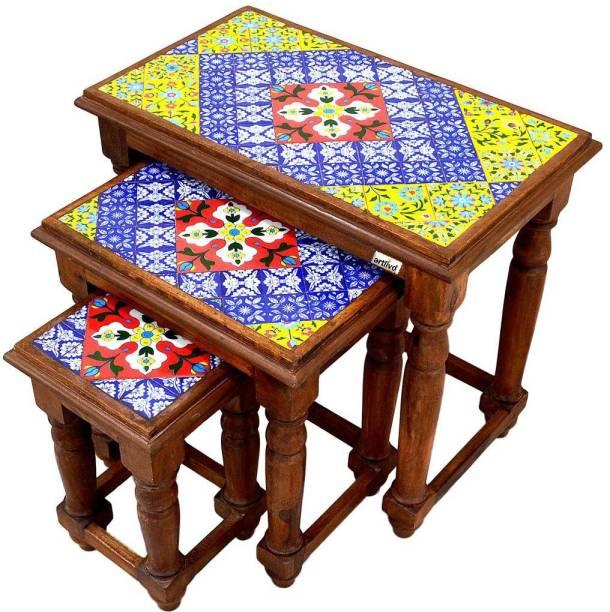 Artlivo Solid Wood Nesting Table