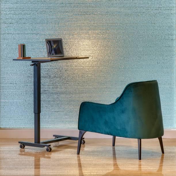 Featherlite Rise pneumatic height adjustable Engineered Wood Office Table