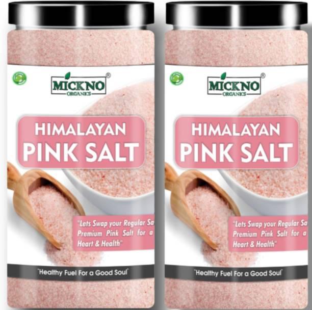 mickno organics 800 gm Himalayan Pink Rock Salt powder Organic for Weight loss ( imported ) Himalayan Pink Salt