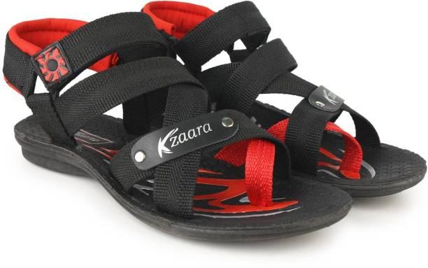 Kzaara Men Red Sports Sandals
