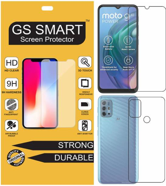 GS Smart Front and Back Tempered Glass for Motorola Moto G10 Power {Flexible}, PAMR0000IN / PAMR0007IN / PAMR0009IN, G10 Power