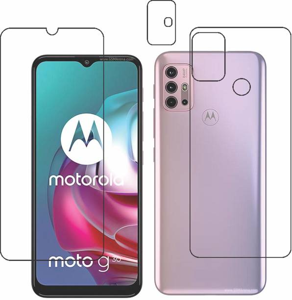 GS Smart Front and Back Tempered Glass for Motorola Moto G30 {Flexible}, PAML0000IN, G30