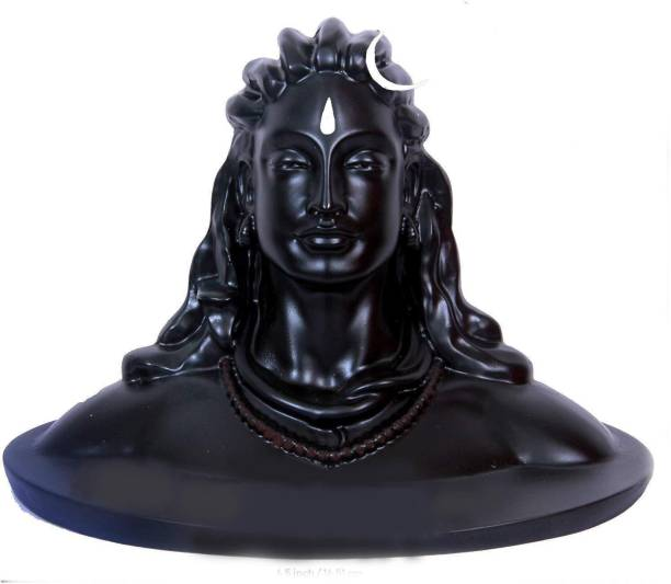 Country hub Adiyogi Lord Shankar Idol for Home Decor, Gift & Pooja, Matte Black, 16.5 cm x 11 cm x 13 cm | Made in India Home Decor|table decorations items| home decor in Showpieces &Figurines|Statue for Car Dashboard, Gifts And Home & Showpieces & Figurines|Statues|statue for car|statue of gods|Showpieces for gift|Showpieces in home Decorative Showpiece  -  13 cm