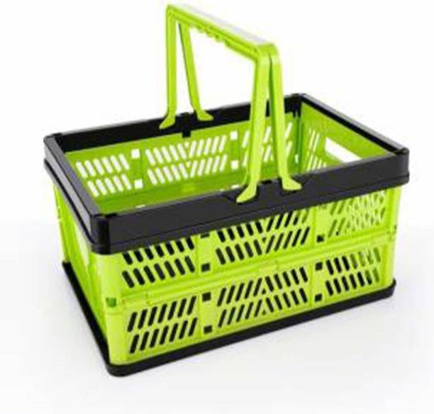Gambit Multipurpose foldable Collapsible Storage Basket Stackable Storage Container Foldable Basket Storage Basket Folding Shopping Basket, Food Snacks Picnic Portable crates for vegetable and fruit Storage Basket (Pack of 1) Storage Basket