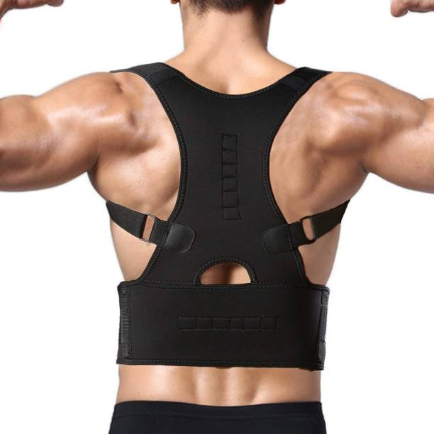 Merrin Unisex Magnetic Back Brace Posture Corrector for Lower and Upper Back Pain Relief Back Support