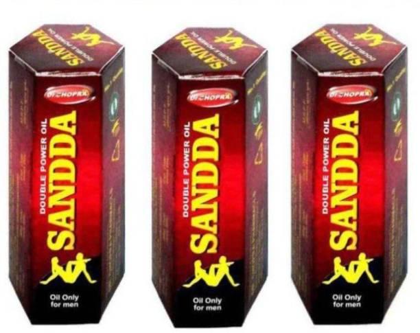 Dr Chopra Sandda Double Power Massage Oil For Men 15*3=45 ML (Pack Of 3)