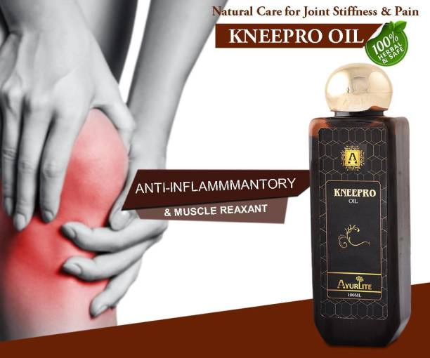 Ayurlite Ayurvedic Knee Pro Oil - Natural Care for Joint Stiffness & Pain for men and women