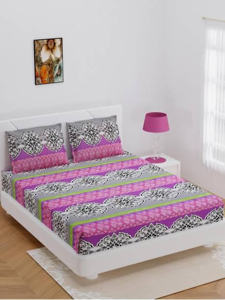 Bombay Dyeing 144 TC Cotton Double Jaipuri Prints Bedsheet