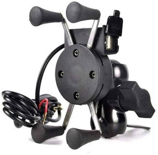Welrock X-Grip Mobile Phone Holder with USB Charger Bike Mobile Holder