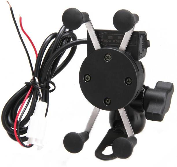 Welrock Bike Mobile Holder Adjustable Mount for CBR Motorcycle with USB Charging Point Bike Mobile Holder
