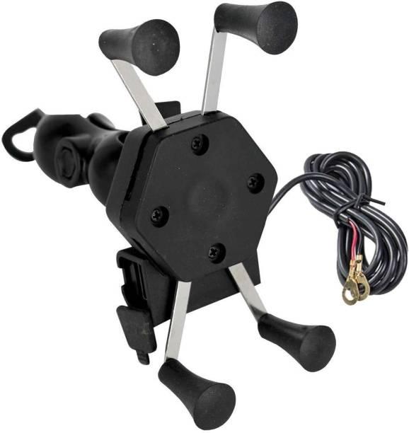 Welrock Latest Mobile Holder for Motorbike/Scooty | Rear Mirror Mount Stand Bike Mobile Holder