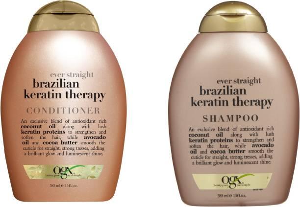 ogx Ever Straight Brazilian Keratin Therapy ( Organix ) Shampoo and Conditioner