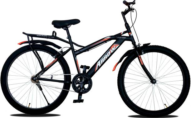 MODERN Arrow 26T City Bike/Cycle In Built Carrier (Matte Black) 26 T Road Cycle
