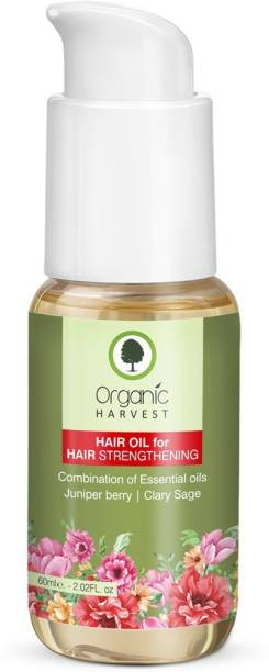 Organic Harvest Hair Oil For Hair Strengthen and Hair Growth | Blends with Essential Oils for All type Hair Growth | Paraben & Sulphate Free – 50 ML Hair Oil