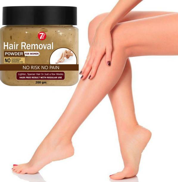 7 Days Premium Hair Removal Powder For Removing Hair From Underarms, Hand, Legs & Bikini Line(Three in one Use Cream