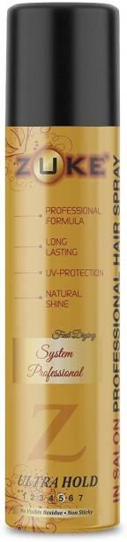 zuke Professional Hair Spray Long Lasting Hold For Men & Women - 420ml Hair Spray