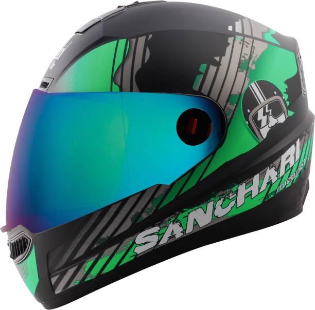 Steelbird SBA-1 Sanchari Full Face ISI Certified Helmet Fitted Clear Visor and Extra Visor Motorbike Helmet