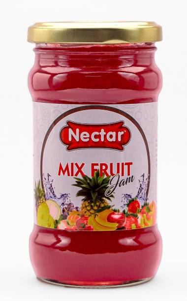 Nectar Mix Fruit JAM we can eat in Breakfast with Bread or roti, paratha This Delicious Mix Fruit jam is Natural and Made with Fresh Fruits No Artificial Color & Added Item(Real Mix Fruit jam) 350