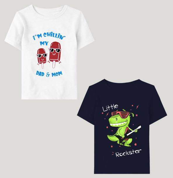 Tripr Baby Boys Printed Cotton Blend T Shirt