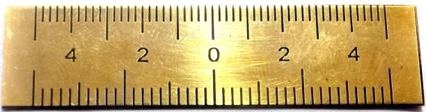 M I Enterprises POCKET SCALE WITH 20 - 25 SCALING BRASS PATWARI SCALE Ruler
