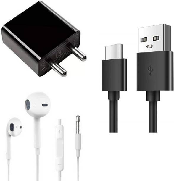 Prifakt Wall Charger Accessory Combo for Xiaomi Redmi 9 Prime,Redmi 8A Dual, Redmi 8, Redmi 8A, Redmi Note 7 Pro, Redmi note 7 S, Mi A3 Mi Fast Charger Original Adapter Like Wall Charger Cable, Mobile Power Adapter, Fast Charger, Android Smartphone Charger,Travel Charger With 1 Meter TYPE- C USB Cable Charging Cable Data Transfer Cable