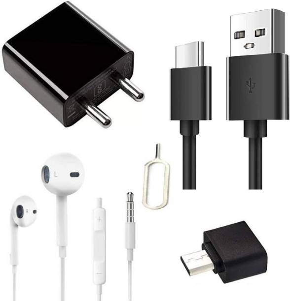 Prifakt Wall Charger Accessory Combo for Redmi note 7 pro, redmi note 8, redmi note 8, redmi 7, mi A2, redmi 7s with TYPE-C CABLE and adapter