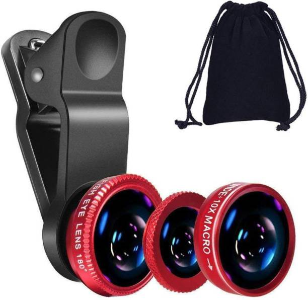 rich hood Universal Clip Wide Angle + Macro + 180 Degree Fish Eyes Newest Three-in-one Universal Mobile Phone Camera Lens Ultra Wide Angle Macro HD Zoom-able Focus 0.67X Lens Kit Best Use for Make Videos on Tiktok,Vigo Video,Snapchat, YouTube carry in your pocket Mobile Phone Lens Mobile Phone Lens
