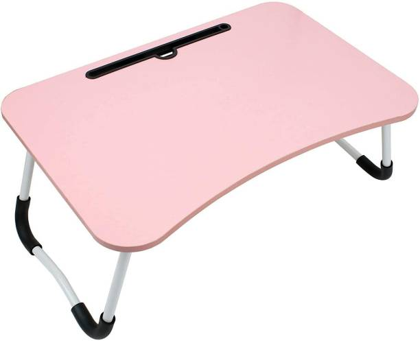 vatical creation Multi-Purpose Laptop Table Portable Laptop Table (Finish Color - pink) Engineered Wood Study Table