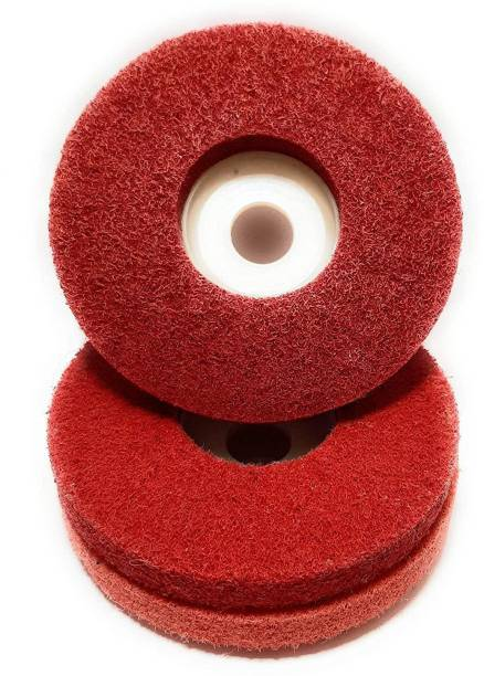 CoolTool 4-Inch Nylon Fiber Buffing Wheel for Remove Paint & Rust, As Well As for Polishing Various Materials (Set of 3 Pieces)(Red) Metal Polisher